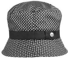 b848a295edd5 totes Women's Bucket Rain Hat with Band and Embossed Snap, Bucket Style,  Pin Dot