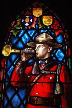 Stained Glass Window in the RCMP Chapel Regina, Saskatchewan, Canada