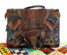 LUXUS CARUSO VINTAGE Leder Tasche Kroko Tragetasche Bag Schultertasche Croco in Kleidung & Accessoires, Damentaschen | eBay