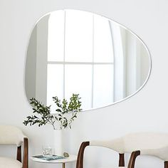 Frameless Asymmetrical Wall Mirror #westelm