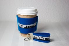cuff for coffee-to-go cups and key fob