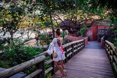 Sundown at Tamarina Resort - Tamarin Bay, Mauritius.  Wearing: Sundress tassel dress