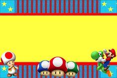 Super Mario Bros - Kit Completo com molduras para convites, rótulos para guloseimas, lembrancinhas e imagens! Super Mario Bros, Super Mario Birthday, How To Draw Mario, Mario Y Luigi, Free Printable Invitations, Party Printables, Party Invitations, Mario Brothers, Party Themes