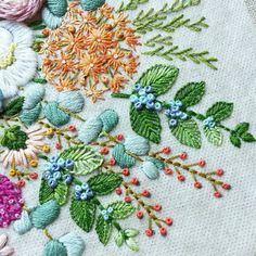 Image result for embroidery easy flower