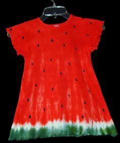 Make a watermelon dress, or shirt with fiber reactive dye- a tutorial