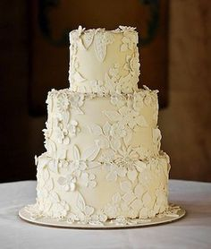 all white cake - love the texture