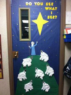 Christmas classroom door | Christmas
