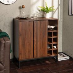 30 Awesome Modern Storage Cabinet Design Ideas - There are many types of storage cabinets at either home or office. As compared to wooden storage cabinets, metal storage cabinets are in much demand t. Wine Glass Storage, Metal Storage Cabinets, Wine Rack Storage, Wine Cabinets, Storage Area, Wood Bar Cabinet, Modern Bar Cabinet, Cabinet Design, Cabinet Decor