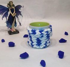 Mug cozy, cup cozy, mug sweater, mug holder, coffee cozy, blu color, white color, perfect gift