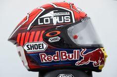 Marquez, helmet, Qatar MotoGP Race 2015