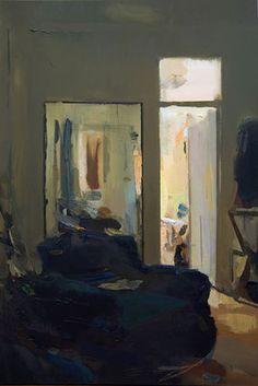 Interior #130. Oil on wood,  60 x 40 cm. Available on Saatchi Art