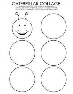 caterpillar cut and paste Numbers Preschool, Fall Preschool, Preschool Activities, Book Activities, Preschool Projects, Hungry Caterpillar Activities, Caterpillar Craft, Very Hungry Caterpillar, Cutting Activities