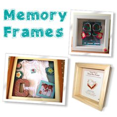 Great idea! Baby memory frames - created by our Hobbycraft Make of the month entries. Frames available on the Hobbycraft website #memory frame #keepsake #babygift #newbaby #frame