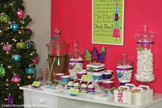 'Holiday Brights' party decor