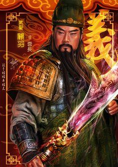 3 kingdoms Guan Yu , by godfathersky-