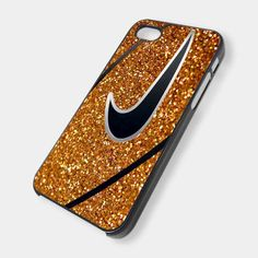 Nike Basketball Gold Glitters Print for iPhone 4/4s/5/5s/5c, Samsung Galaxy s3/s4 case