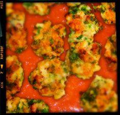 Cuttlefish balls in tomato sauce