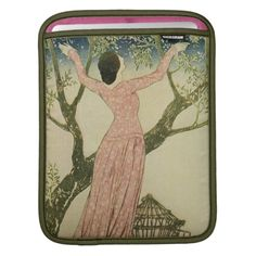 Vintage Design - Bird Released from Cage iPad Sleeve available at Zazzle