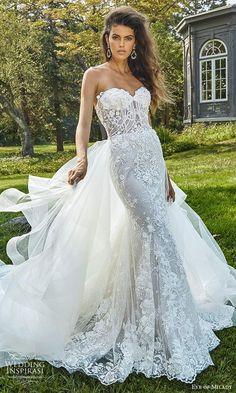 Eve Of Milady Wedding Dresses, Long Gown For Wedding, Boho Wedding, Wedding Gowns, Dream Wedding, Strapless Sweetheart Neckline, Bride Gowns, Chapel Train, Designer Wedding Dresses