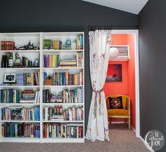 A Vintage-Boho Closet Reading Nook   www.thegatheredhome.com