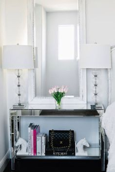 Love the lamps and the tall mirror. Oh, and the horse book ends!