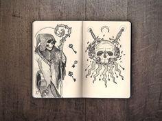 Here at Inspiration Hut we love peeking into artists' sketchbooks. Below we have the impressive Moleskine sketchbook of Ivan Meshkov