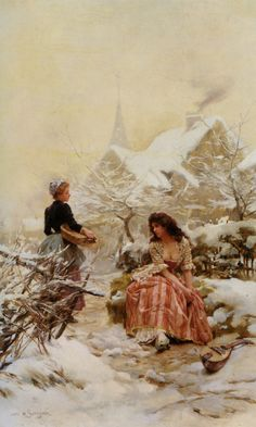 Winter - Louis Marie de Schryver 19th century