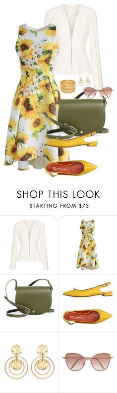 """""""Spring Floral1"""" by doramoleiro ❤ liked on Polyvore featuring Jonathan Simkhai, Chicwish, Tory Burch, Saint-Honoré Paris Souliers, Kenneth Jay Lane, Cutler and Gross and floraldress"""