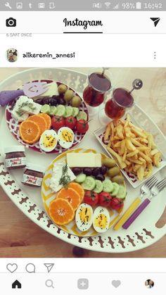 Breakfast Presentation, Food Presentation, Tea Recipes, Apple Recipes, Breakfast Dishes, Breakfast Recipes, Brunch, Paleo Sweet Potato, Ramadan Recipes