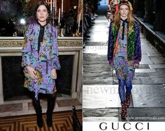 Gucci Ruffled Floral-Print Silk Crepe Dress - Gucci Resort 2017 Collection