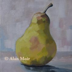 Alan Moir. Pear - acrylic on canvas. www.facebook.com/alan.moir.portraits