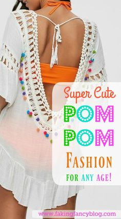 I am so digging any clothing or accessories trimmed with pom pom tassels! Up your summer style game with this cute, fun outfit trend!