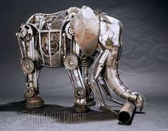 Design Stack: Recycled Fully Articulated Mechanical Animals