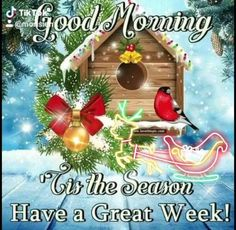 Good Morning Winter, Good Morning Christmas, Good Morning Cards, Happy Morning, Good Morning Sunshine, Good Morning Friends, Morning Coffee, Christmas Card Messages, Merry Christmas Quotes