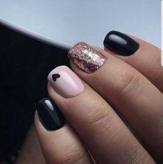 nails for prom gold \ nails for prom . nails for prom silver . nails for prom white . nails for prom pink . nails for prom black . nails for prom red dress . nails for prom neutral . nails for prom gold Black Nails With Glitter, Rose Gold Nails, Matte Nails, Stiletto Nails, Coffin Nails, Pink Black Nails, Nail Black, Pink Glitter, Glitter Nails