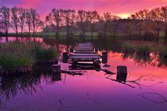 pinkish purple sunset  By Aurora Borealis