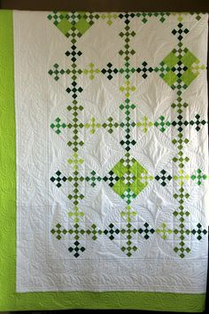 This very traditional double nine patch quilt with update. xox