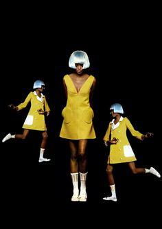 1966 - Diana Ross for André Courreges by Bert Stern.
