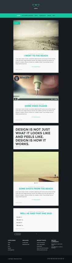 Nerdy: A WordPress Blog Theme #wordpress #theme #template #webdesign #webpage #website #site #design #html #css #blog #shortcode #webfont #typography #slider #responsive #mobile #flexible #fluid #retina #adminpanel #widget #smartphone #tablet #flat #flatui #flatdesign #photography #photo #portfolio #creative #gallery #photoblog #showcase #creative #masonry #quicksand #grid