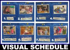 Several ways to use visual schedules in the classroom or throughout the day - when kiddos have trouble transitioning to the next activity, refer to the schedule!