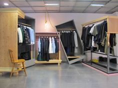 Sacai's first space at Dover Street Market designed by Chitose Abe.