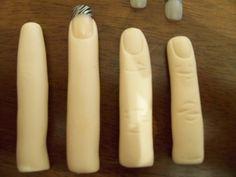 how to make fingers fondant