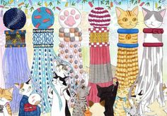 Cats appear at Japan's famous Tanabata Festival in Sendai this summer