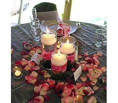 layered candle center piece