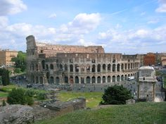 Roman Colosseum, from the Palatine Hills
