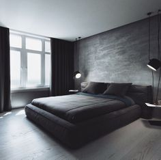 Schlafzimmer You are in the right place about new apartment decor Here we offer you the most beautiful pictures about the apartment decor themes you are looking for. When you examine the Schlafzimmer Modern Bedroom Decor, Home Bedroom, Modern Mens Bedroom, Bedroom Ideas For Men Modern, Male Bedroom Decor, Bedroom Wall, Trendy Bedroom, Contemporary Bedroom, Master Bedroom