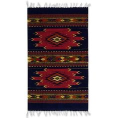 NOVICA Handmade Mexican Zapotec Wool Area Rug (2x3.5) (515 PLN) ❤ liked on Polyvore featuring home, rugs, 3x5 and 4x6, area rugs, home decor, mexican & zapotec wool rugs, red, handmade rugs, hand woven rugs and red wool rug
