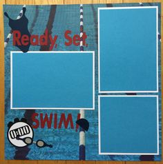 Premade Swim Team Scrapbook Page Swimming by PaperPrettiesandMore