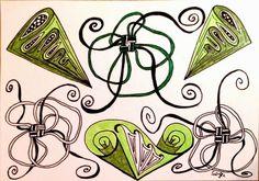 Lieschens-Bilder: Zentangle 210  Weekly Challenge # 209