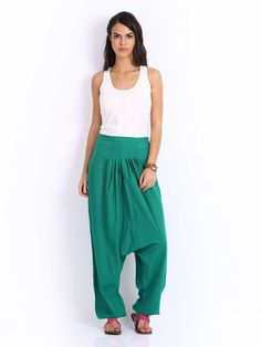 Anouk Women Green Harem Pants